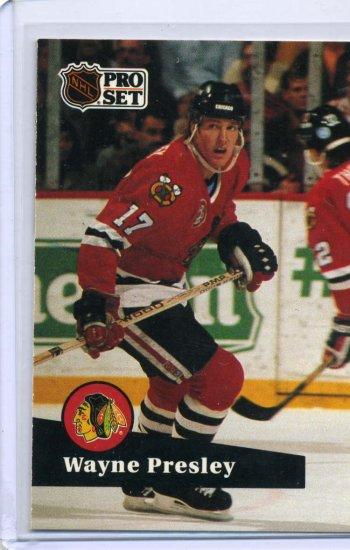 Wayne Presley 1991/92 Pro Set #44 NHL Hockey Card Near Mint Condition
