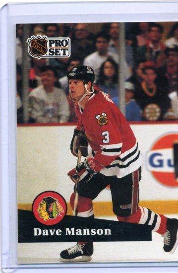 Dave Manson 1991/92 Pro Set #41 NHL Hockey Card Near Mint Condition