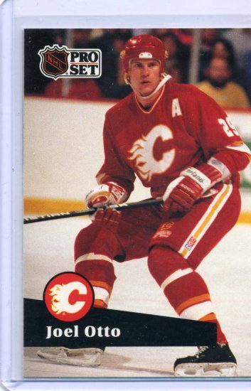 Joel Otto 1991/92 Pro Set #37 NHL Hockey Card Near Mint Condition