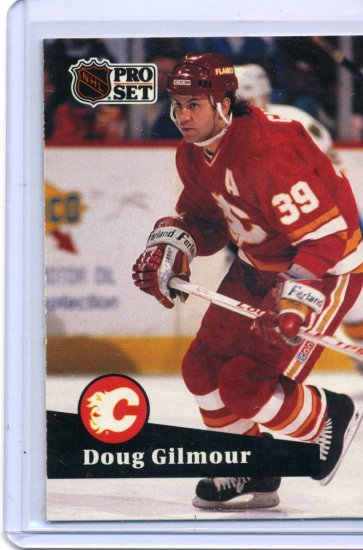 Doug Gilmour 1991/92 Pro Set #34 NHL Hockey Card Near Mint Condition