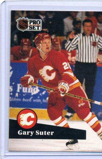 Gary Suter 1991/92 Pro Set #32 NHL Hockey Card Near Mint Condition
