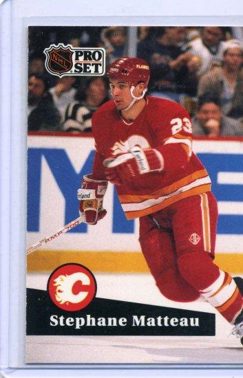 Stephane Matteau 1991/92 Pro Set #27 NHL Hockey Card Near Mint Condition