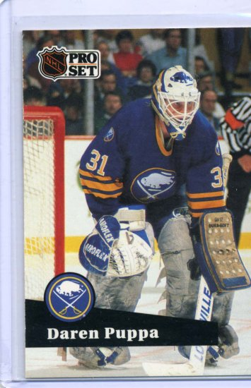 Darren Puppa 1991/92 Pro Set #21 NHL Hockey Card Near Mint Condition