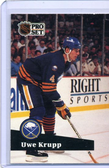 Uwe Krupp 1991/92 Pro Set #20 NHL Hockey Card Near Mint Condition