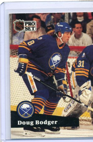 Doug Bodger 1991/92 Pro Set #19 NHL Hockey Card Near Mint Condition