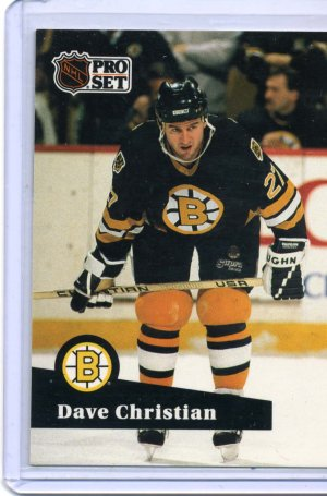 Dave Christian 1991/92 Pro Set #11 NHL Hockey Card Near Mint Condition