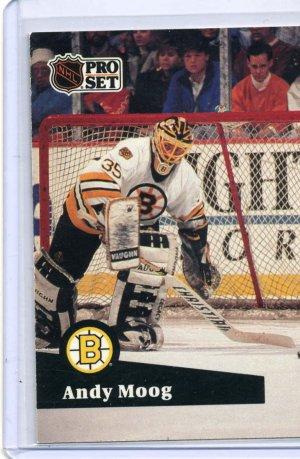 Andy Moog 1991/92 Pro Set #10 NHL Hockey Card Near Mint Condition