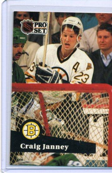 Craig Janney 1991/92 Pro Set #2 NHL Hockey Card Near Mint Condition