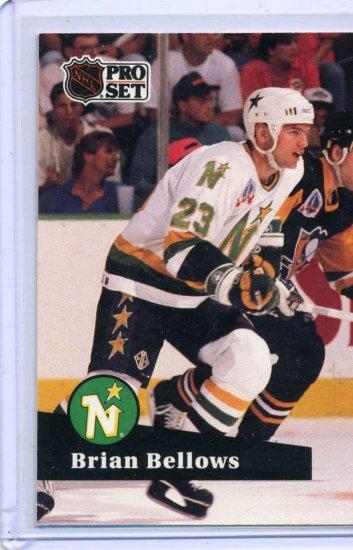 Brian Bellows 1991/92 Pro Set #109 NHL Hockey Card Near Mint Condition
