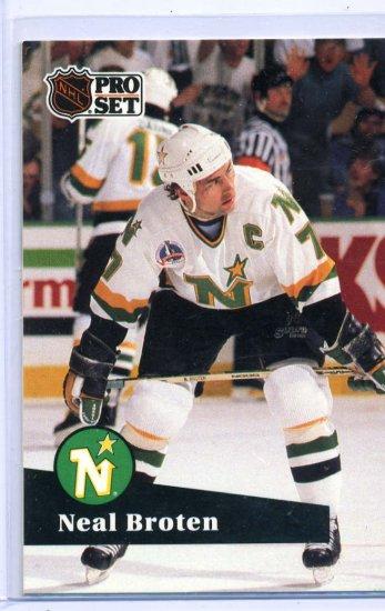 Neal Broten 1991/92 Pro Set #112 NHL Hockey Card Near Mint Condition