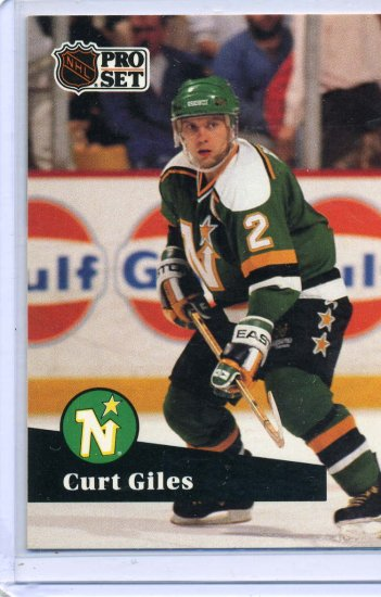 Curt Giles 1991/92 Pro Set #114 NHL Hockey Card Near Mint Condition