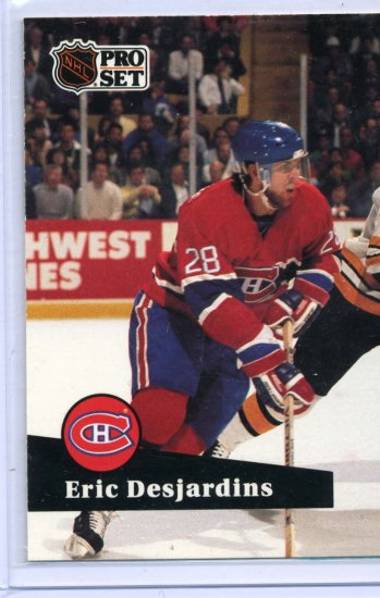 Eric Desjardins 1991/92 Pro Set #118  NHL Hockey Card Near Mint Condition