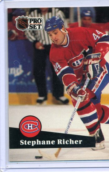 Stephane Richer 1991/92 Pro Set #122 NHL Hockey Card Near Mint Condition