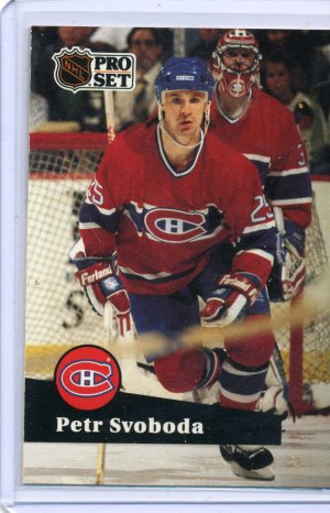Petr Svoboda 1991/92 Pro Set #123 NHL Hockey Card Near Mint Condition