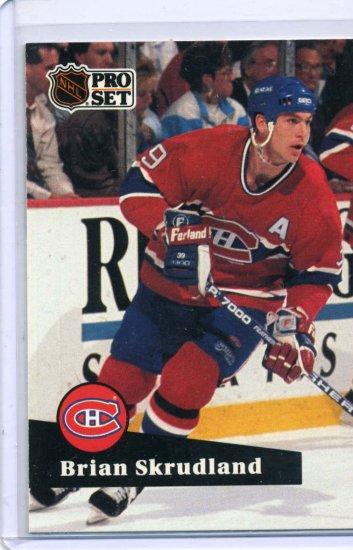 Brian Skrudland 1991/92 Pro Set #127 NHL Hockey Card Near Mint Condition