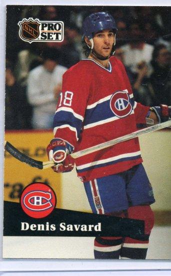 Denis Savard 1991/92 Pro Set #128 NHL Hockey Card Near Mint Condition