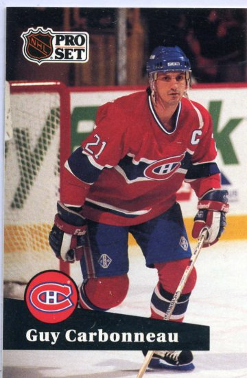 Guy Carbonneau 1991/92 Pro Set #130 NHL Hockey Card Near Mint Condition