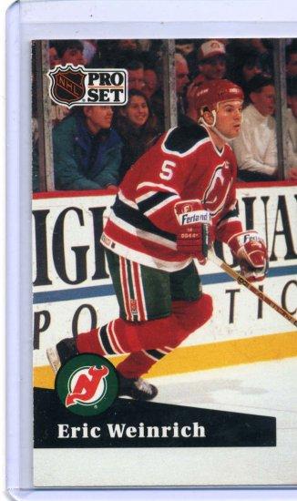 Eric Weinrich 1991/92 Pro Set #133 NHL Hockey Card Near Mint Condition
