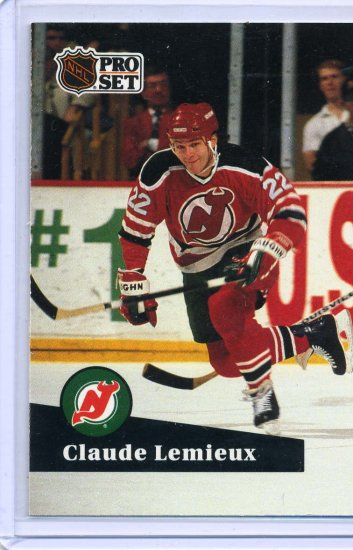 Claude Lemieux 1991/92 Pro Set #135 NHL Hockey Card Near Mint Condition