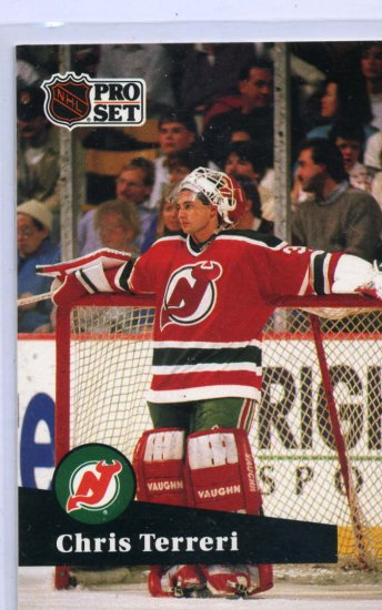 Chris Terreri 1991/92 Pro Set #137 NHL Hockey Card Near Mint Condition