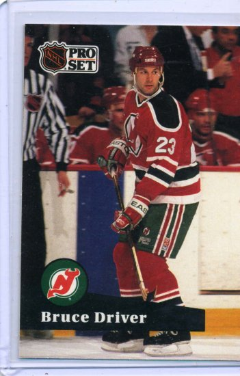Bruce Driver 1991/92 Pro Set #140 NHL Hockey Card Near Mint Condition