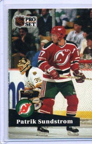 Patrik Sundstrom 1991/92 Pro Set #141 NHL Hockey Card Near Mint Condition