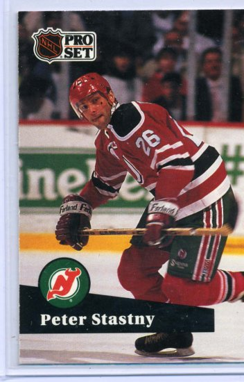 Peter Stastny 1991/92 Pro Set #143 NHL Hockey Card Near Mint Condition