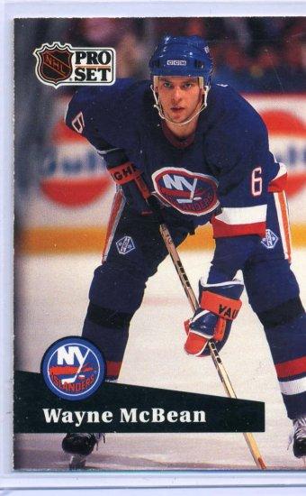 Wayne McBean 1991/92 Pro Set #144 NHL Hockey Card Near Mint Condition