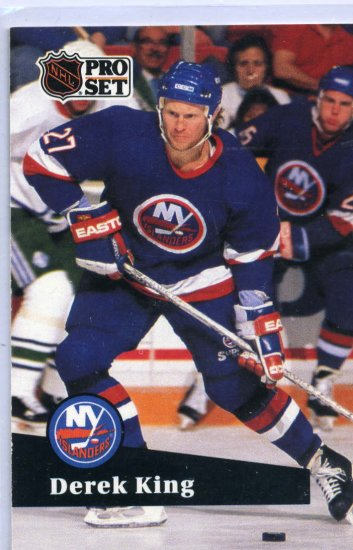 Derek King 1991/92 Pro Set #146 NHL Hockey Card Near Mint Condition