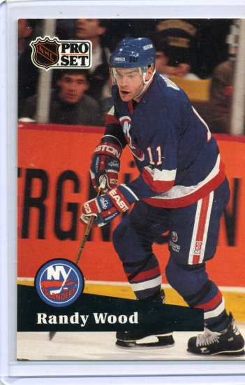 Randy Wood 1991/92 Pro Set #151 NHL Hockey Card Near Mint Condition
