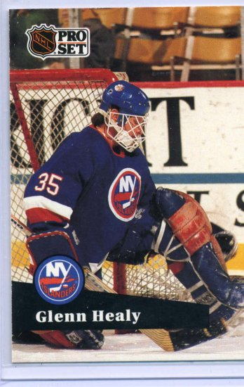 Glenn Healy 1991/92 Pro Set #153 NHL Hockey Card Near Mint Condition