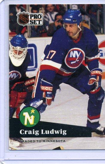 Craig Ludwig 1991/92 Pro Set #155 NHL Hockey Card Near Mint Condition