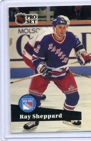 Ray Sheppard 1991/92 Pro Set #162 NHL Hockey Card Near Mint Condition