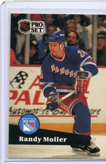 Randy Moller 1991/92 Pro Set #163 NHL Hockey Card Near Mint Condition