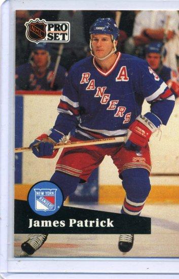 James Patrick 1991/92 Pro Set #164 NHL Hockey Card Near Mint Condition