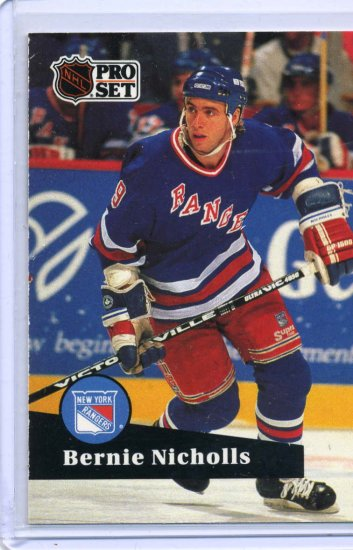 Bernie Nicholls 1991/92 Pro Set  #166 NHL Hockey Card Near Mint Condition