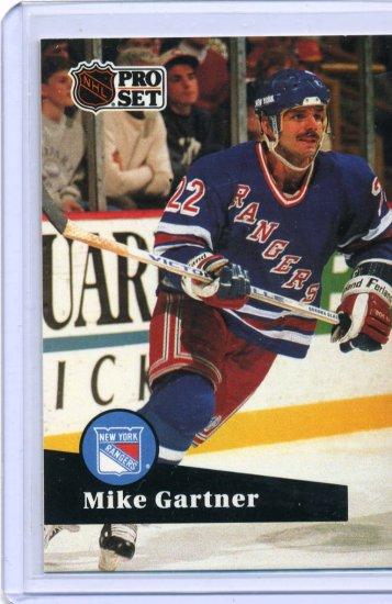 Mike Gartner 1991/92 Pro Set #167 NHL Hockey Card Near Mint Condition