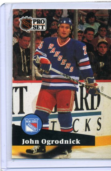 John Ogrodnick 1991/92 Pro Set #169 NHL Hockey Card Near Mint Condition