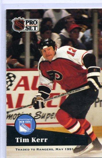 Tim Kerr 1991/92 Pro Set #180 NHL Hockey Card Near Mint Condition