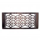"""""Flower"""" Bronze Wall Register with Louver - 6"""" x 12"""" (7-1/2"""" x 13-1/2"""" Overall)"
