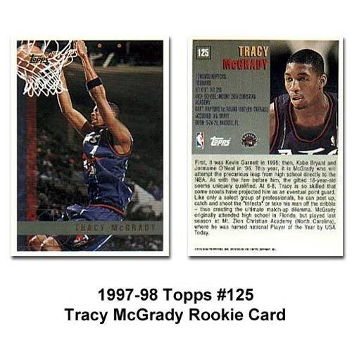 Tracy McGrady RC Topps 1997-1998 #125