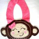 Monkey Face Girl's Bib, New, One Size