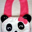 Panda Face Bib, New, One Size