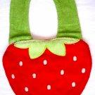 Strawberry Bib, New, One Size