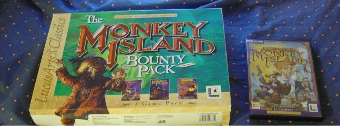 MONKEY ISLAND BOUNTY PACK [MONKEY ISLAND 1+2+3 ] + ESCAPE FROM MONKEY ISLAND
