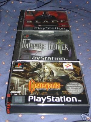 CASTLEVANIA SYMPHONY OF THE NIGHT COLLECTORS+BLOOD OMEN+BLADE+VAMPIREHUNTER D