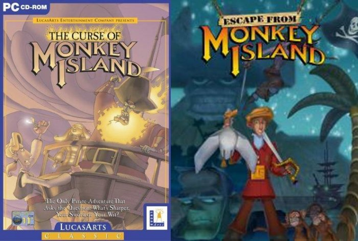 THE CURSE OF MONKEY ISLAND + ESCAPE FROM MONKEY ISLAND