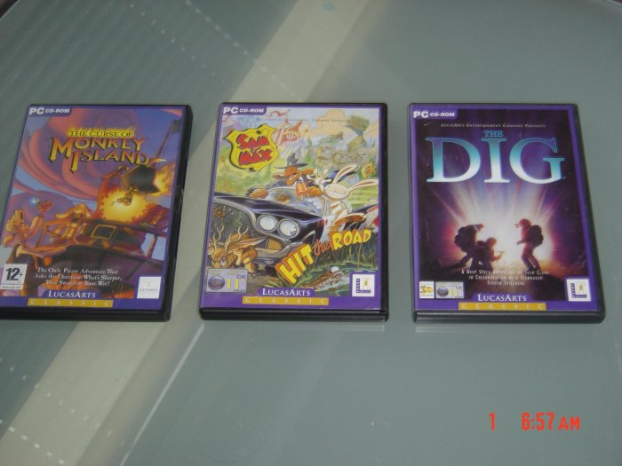 SAM AND MAX HIT THE ROAD + MONKEY ISLAND 3 + THE DIG !