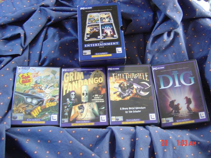 SAM AND MAX  + FULL THROTTLE + GRIM FANDANGO + THE DIG