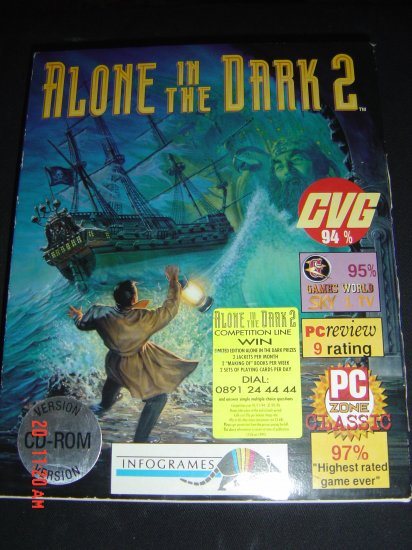 ALONE IN THE DARK 2 RARE BIG BOX RELEASE